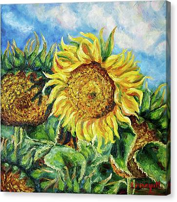 Morning In Ukraine. Flowers Series. Canvas Print