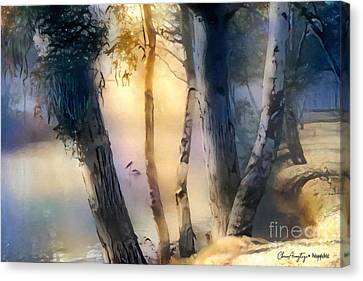 Morning On The Murray Canvas Print