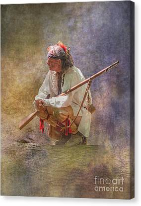 Morning Warrior Cook Forest  Canvas Print