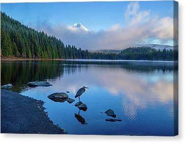 Mount Hood Shrouded In Clouds Canvas Print