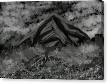 Mountain Of The Dark Canvas Print