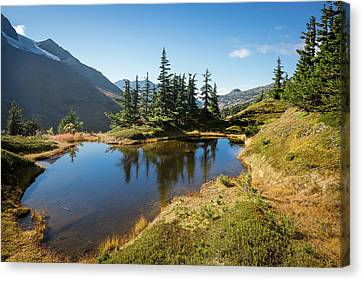 Canvas Print featuring the photograph Mountain Pond by Tim Newton