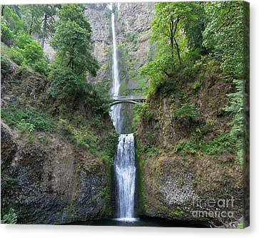 Multnomah Falls In The Columbia River Gorge In Oregon Dsc6514-2 Canvas Print