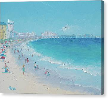 Myrtle Beach And Springmaid Pier Canvas Print