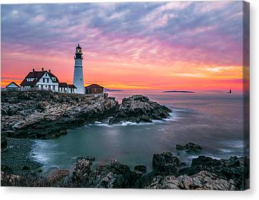 Near The End Of Shift Canvas Print