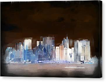 New York Skyline Illustration 1 Canvas Print