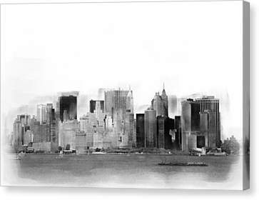 New York Skyline Illustration 4 Canvas Print