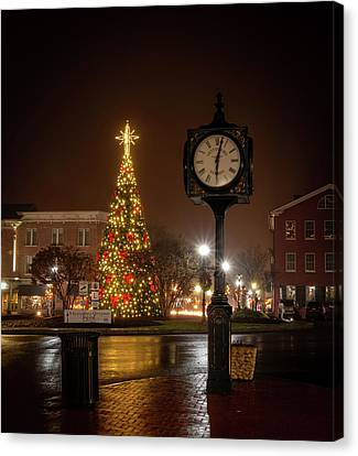 Night On The Square Canvas Print