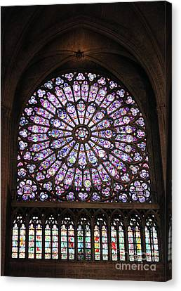 Notre Dame Rose Window Canvas Print