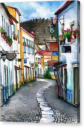 Obidos Portugal Canvas Print