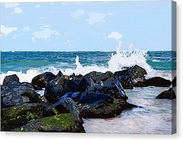 Ocean Meets The Coast Canvas Print