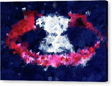 AB063 Blue White Surreal Modern Abstract Canvas Wall Art Large Picture Prints