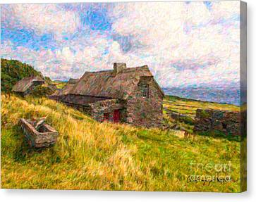 Old Scottish Farmhouse Canvas Print