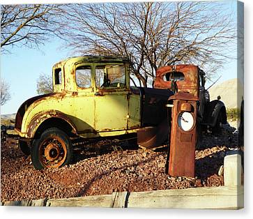 Old Yellow Coupe Canvas Print