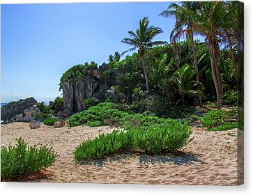 On The Coast Of Tulum Canvas Print