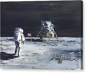 One Small Step For A Man, One Giant Leap For Mankind. Canvas Print
