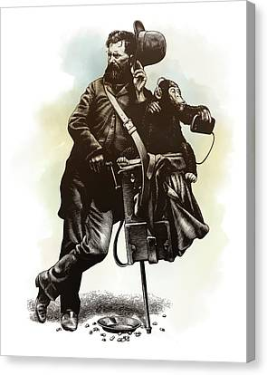 Organ Grinder Canvas Print