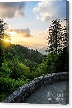 Overlook At New  Found Gap Canvas Print