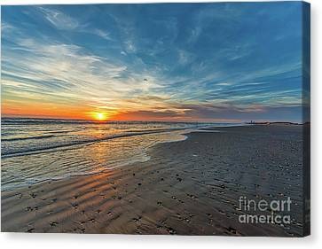 Padre Island Beach Sunrise Canvas Print