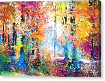 Painted Forest Canvas Print
