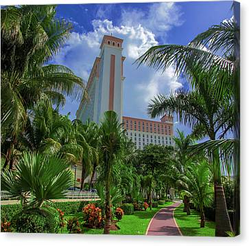 Palms At The Riu Cancun Canvas Print