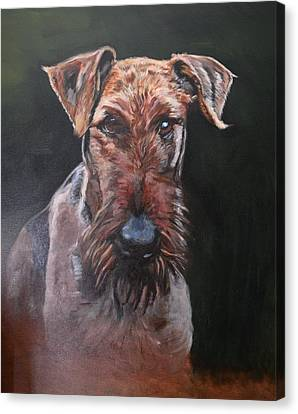 Pancho The Airedale Canvas Print