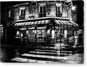 Paris At Night - Rue Bonaparte Canvas Print