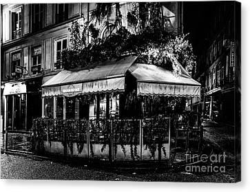 Paris At Night - Rue De Buci Canvas Print
