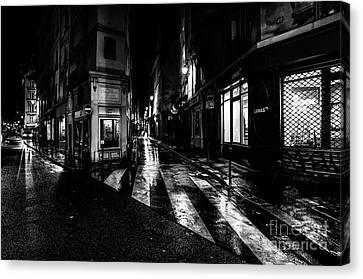 Paris At Night - Rue De Seine Canvas Print