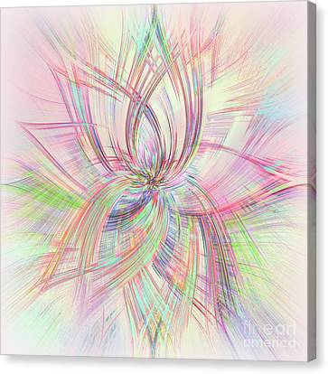 Pastel Spring Abstract By Kaye Menner Canvas Print