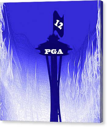 Paul Allen Seahawks Salute At The Space Needle Canvas Print