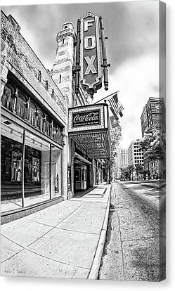 Peachtree Street And The Fox Theatre - Atlanta Canvas Print