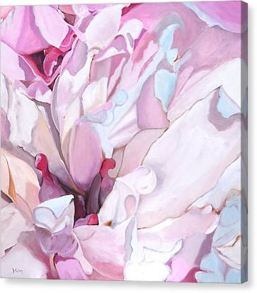 Peony Blossom Oil Painting Canvas Print