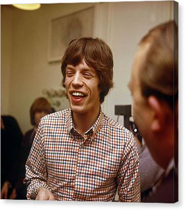 Photo Of Rolling Stones And Mick Jagger Canvas Print by David Redfern