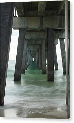 Pier Roll Tide Canvas Print