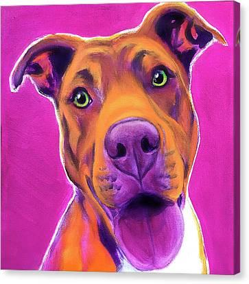 Pit Bull Puppy Dog Digital Art Rescue Club Print or Canvas