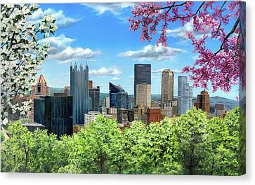 Pittsburgh In Bloom Canvas Print