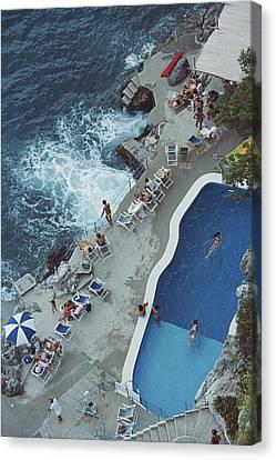Pool On Amalfi Coast Canvas Print