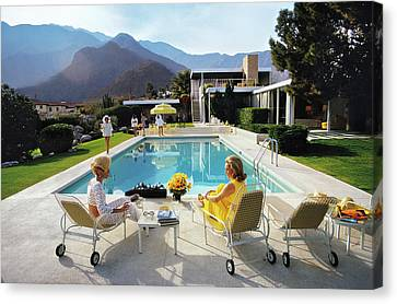 Poolside Glamour Canvas Print