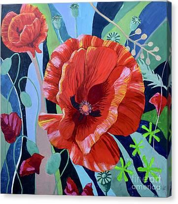 Poppie Jam 3 Canvas Print