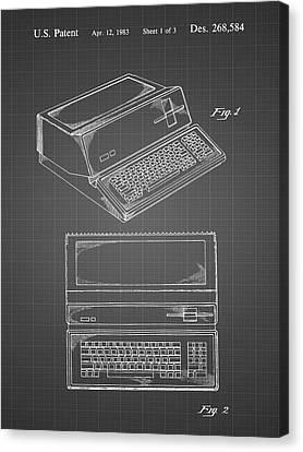 1983 Apple III Design Patent Illustration Canvas Totebag