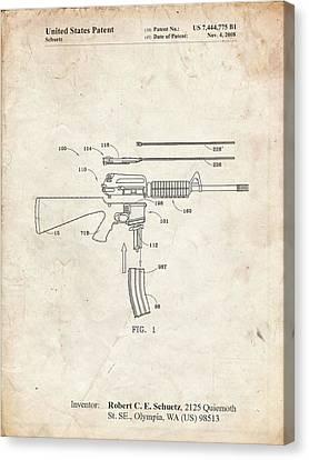 Exploded AR-15 Blueprint Patent Art Print Poster