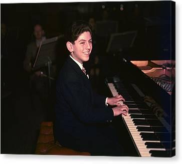 Art print POSTER Canvas Leonard Bernstein Playing Piano