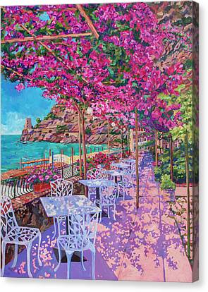 Pupetto's Cafe, Positano, Italy Canvas Print