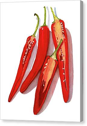 Red Hot Chili Peppers Watercolor Canvas Print