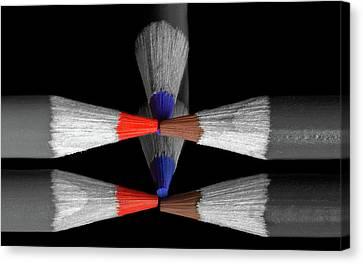 Reflecting Colour Pencils Canvas Print