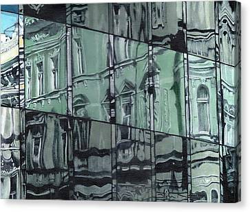 A Reflection On Modern Architecture Canvas Print