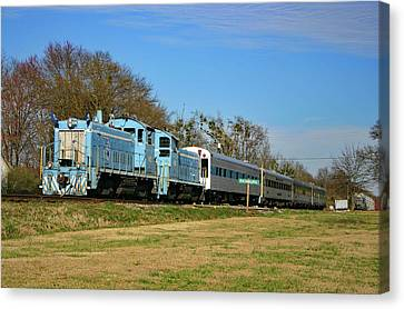 Canvas Print featuring the photograph Richburg Streamliner Express by Joseph C Hinson Photography