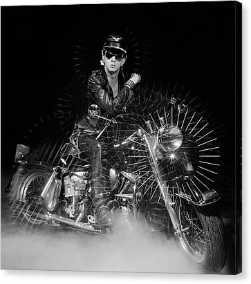 Rob Halford Posed Canvas Print by Fin Costello