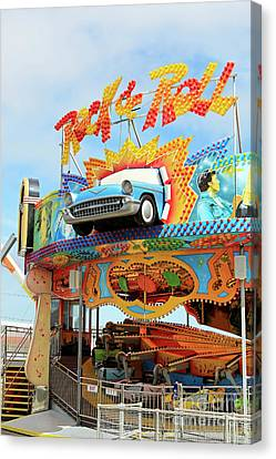 Rock And Roll Ride Moreys Piers Wildwood New Jersey Usa 2 Canvas Print